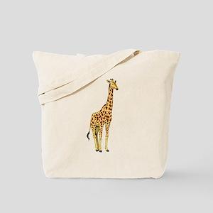 Very Tall Giraffe Illustration Tote Bag