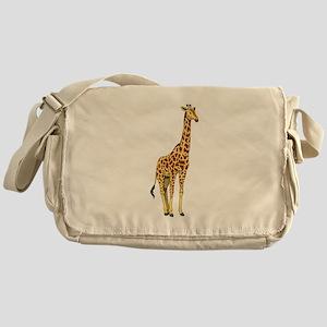 Very Tall Giraffe Illustration Messenger Bag