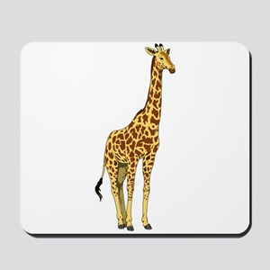Very Tall Giraffe Illustration Mousepad