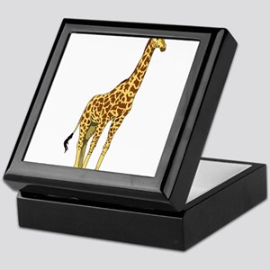 Very Tall Giraffe Illustration Keepsake Box