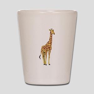Very Tall Giraffe Illustration Shot Glass