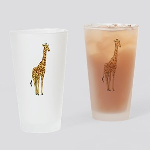 Very Tall Giraffe Illustration Drinking Glass