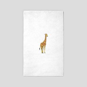 Very Tall Giraffe Illustration Area Rug