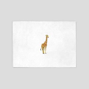 Very Tall Giraffe Illustration 5'x7'Area Rug