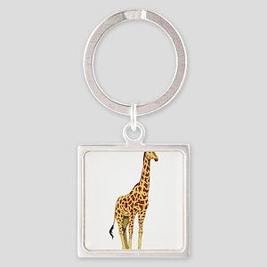 Very Tall Giraffe Illustration Keychains
