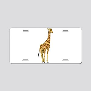 Very Tall Giraffe Illustrat Aluminum License Plate