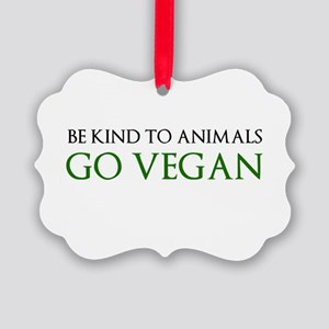 Go Vegan Ornament
