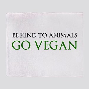 Go Vegan Throw Blanket