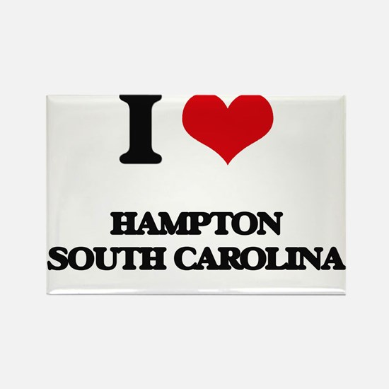 I love Hampton South Carolina Magnets