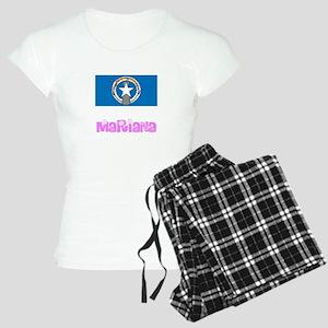 Mariana Flag Pink Flower Design Pajamas