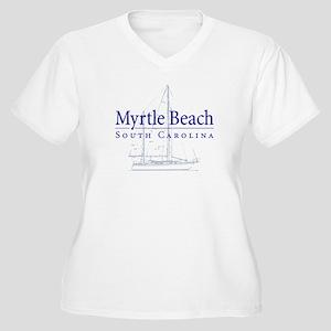 Myrtle Beach Sailboat - Women's Plus Size V-Neck
