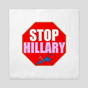 Stop Hillary Queen Duvet