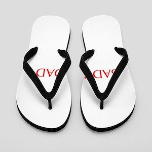 Bad ass dad-Opt red 550 Flip Flops