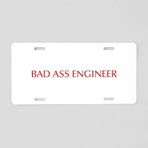 Bad Ass Engineer-Opt red 550 Aluminum License Plat