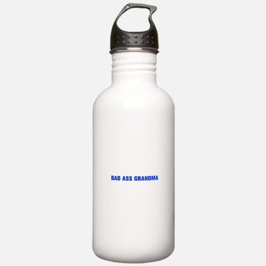 Bad Ass Grandma-Akz blue 500 Water Bottle