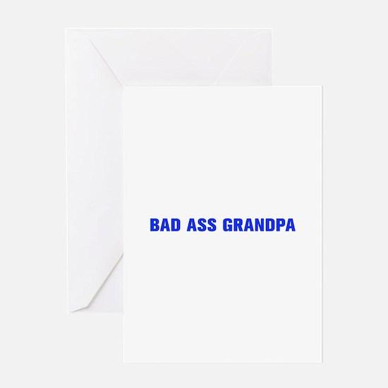 Bad Ass Grandpa-Akz blue 500 Greeting Cards