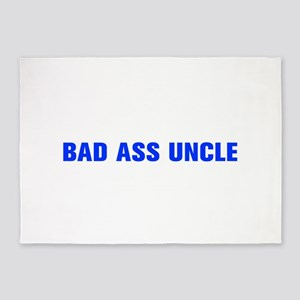 Bad ass uncle-Akz blue 500 5'x7'Area Rug