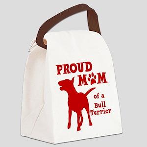 BULL TERRIER MOM Canvas Lunch Bag