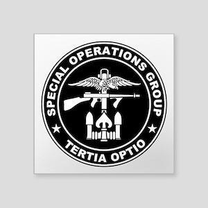 """SOG - Tertia Optio (BW) Square Sticker 3"""" x 3"""""""