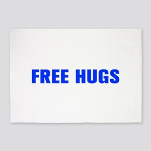 Free Hugs-Akz blue 500 5'x7'Area Rug