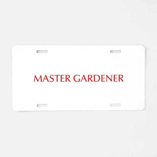 Master Gardener-Opt red 550 Aluminum License Plate