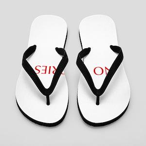 No worries-Opt red 550 Flip Flops