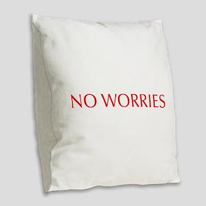 No worries-Opt red 550 Burlap Throw Pillow