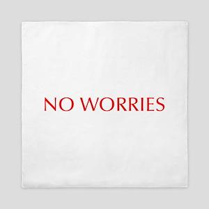 No worries-Opt red 550 Queen Duvet