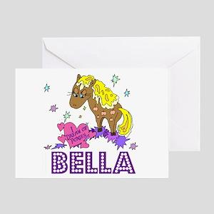 I Dream of Ponies Bella Greeting Card