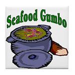 Seafood Gumbo Tile Coaster