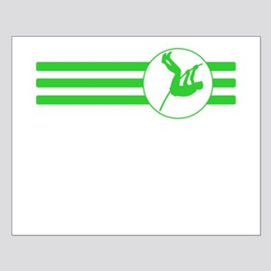 Pole Vaulter Stripes (Green) Posters