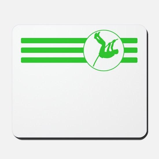 Pole Vaulter Stripes (Green) Mousepad