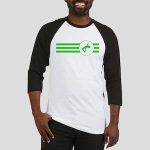 High Jump Stripes (Green) Baseball Jersey