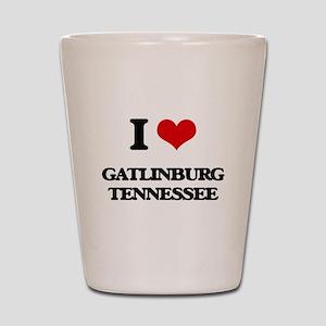 I love Gatlinburg Tennessee Shot Glass