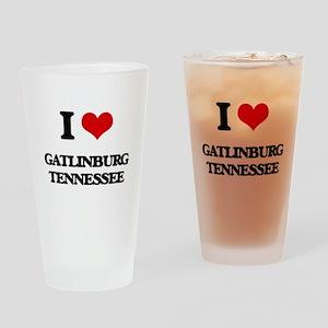 I love Gatlinburg Tennessee Drinking Glass