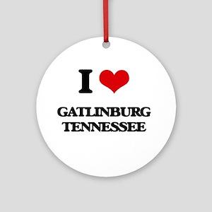 I love Gatlinburg Tennessee Ornament (Round)