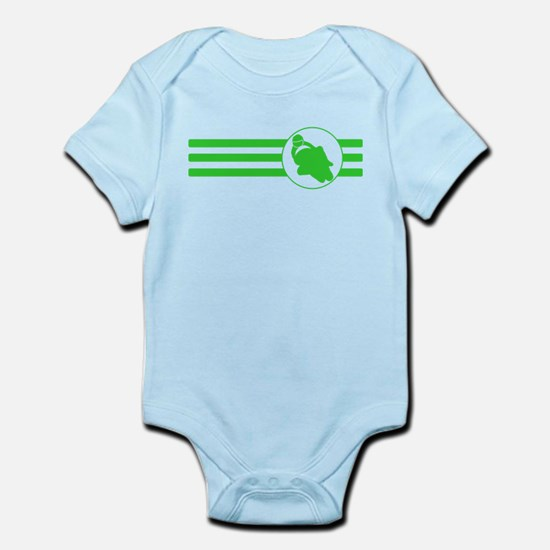 Motorcycle Racing Stripes (Green) Body Suit
