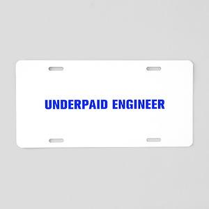 Underpaid Engineer-Akz blue 500 Aluminum License P