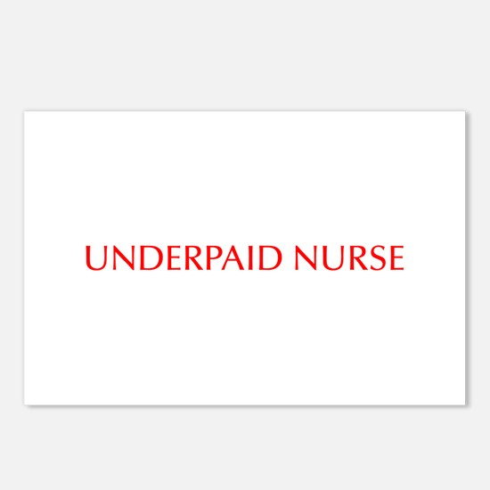 Underpaid nurse-Opt red 550 Postcards (Package of