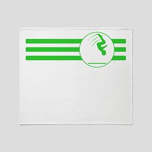 Gymnast Stripes (Green) Throw Blanket