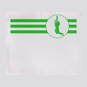 Wide Receiver Stripes (Green) Throw Blanket