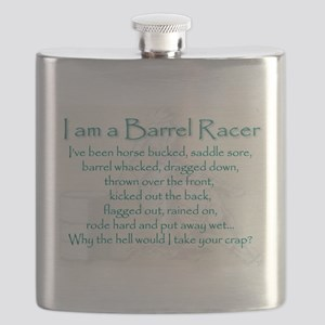 I am a Barrel Racer Flask