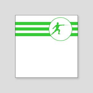 Fencer Stripes (Green) Sticker