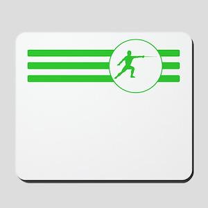 Fencer Stripes (Green) Mousepad