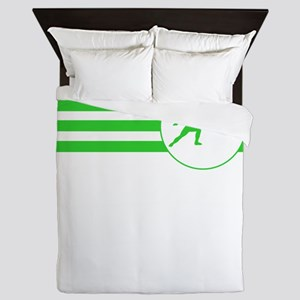 Fencer Stripes (Green) Queen Duvet
