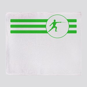 Fencer Stripes (Green) Throw Blanket