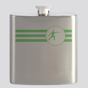 Fencer Stripes (Green) Flask