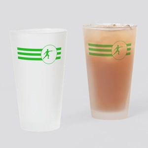 Fencer Stripes (Green) Drinking Glass