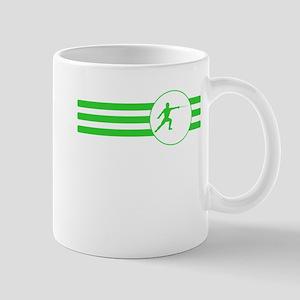 Fencer Stripes (Green) Mugs
