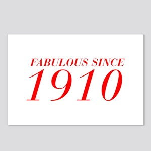 FABULOUS SINCE 1910-Bod red 300 Postcards (Package